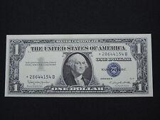 1957 B $1 US DOLLAR BANK NOTE SILVER CERTIFICATE REPLACEMENT *28644154B GEM CU
