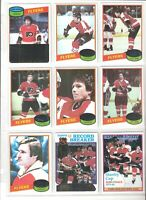1980/81 Topps PHILADELPHIA FLYERS Team Set (16) EX-NM ,W/POSTER, STANLEY CUP,RB