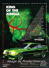 1996 BMW 3-Series AC Schnitzer Original Advertisement Print Art Car Ad J735