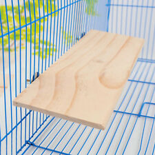 Pet Parrot Bird Wooden Hanging Stand Perch Platform Toys Cockatiel 13x28cm