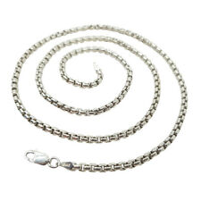 "22"" REAL 925 Sterling Silver Mens Heavy Link Chain Necklace 4MM Italy Jewelry"