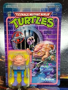 """Super 7 TMNT Krang 3.75"""" ReAction Figure. NM to Mint Package. New. 2020."""