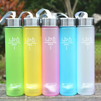 Portable Bike Sports Travel Unbreakable Plastic Camping Cup Water Bottle Frosted