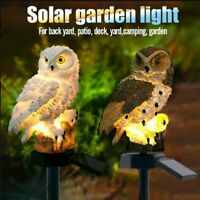 Owl Solar LED Garden Light Lawn Ornament Outdoor Waterproof Christmas Lamp Decor