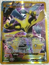 Lotto carte Pokemon ALAKAZAM EX 125/124 XY DESTINI INCROCIATI FUORISERIE GOLD