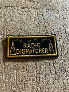 WWII/Post/1950s? US ARMY PATCH-RADIO DISPATCHER TAB-ORIGINAL BEAUTY!