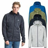 Trespass Northwood Mens Zip Hoodie Fleece Jumper in Green Blue Grey Black