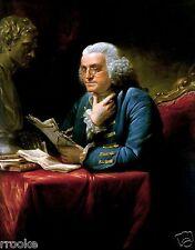 Portrait of Benjamin Franklin From 1767 Fine Art Print Colonial American Hero