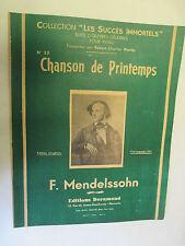 """Piano Collection Les Succès immortels / Mendelssohn """"Chanson de Printemps"""""""
