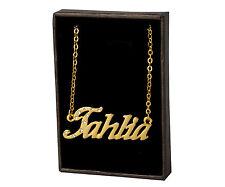 "Name Necklace ""TAHLIA"" - 18ct Gold Plated - Wedding Personalised Custom Identity"