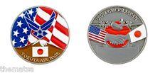 AIR FORCE BASE YOKOTA  TOKYO JAPAN FLAG MILITARY  CHALLENGE COIN