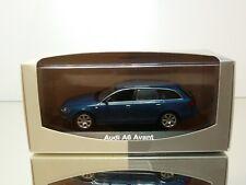 MINICHAMPS AUDI A6 3.2 AVANT 2004 - BLUE METALLIC 1:43 - EXCELLENT IN DEALER BOX
