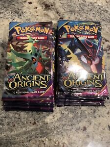 10 XY Ancient Origins Pokémon Booster Packs - Factory Sealed From Booster Box