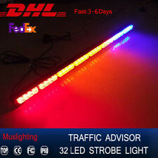 "32 LED 35.5""Emergency Traffic Advisor Flash Strobe Light Bar Warning lamp"