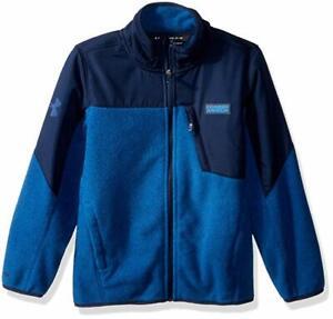 NWT Under Armour UA Storm Battlefleece Heather Boys' Jacket Size 7 Circuit Blue