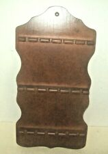 "Vintage Wooden Wall 18 Spoon Rack 19"" Tall X 10"" Wide x 1.50"" Deep Excellent"