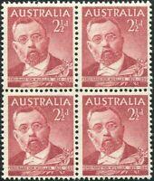 Australia 1948 SG226 2½d Sir Ferdinand von Mueller block MNH