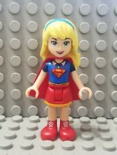 LEGO New DC Super Hero Girls Supergirl Minifigure with Red Skirt and Cape 41232