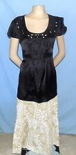 Awesome & Timeless Motherhood Maternity Black Tie-Back Top Size Large Career or