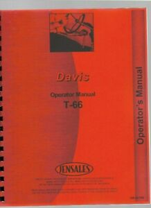 Davis T-66 Trencher Owners Operators Manual