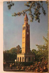 North Carolina NC University Morehead Patterson Bell Tower Chapel Hill Postcard