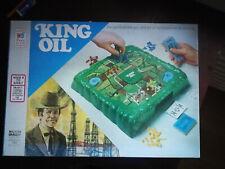 Vintage old jeux 1974 KING OIL Board Game Milton Bradley brettspiel 3D