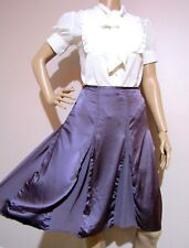 DAVID LAWRENCE size 14 95% silk SKIRT with panels / inserts & silk lining