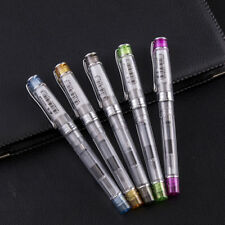 Wing Sung 3003 Transparent Piston Fountain Pen Extra Fine Nib 0.38mm 5Color