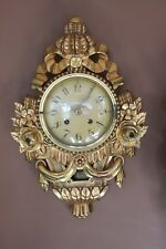 Germany G.P Gebr. Petersen GmbH  Gild wood carved wall clock