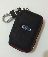 Ford Genuine Leather Key Cover Case Holder Ring Chain Fob !