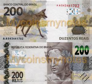 BRAZIL, 200 REAIS, 2020, Prefix AA, PNew (Not Yet in Catalog), UNC