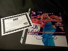 WWF WWE FIRST DIVA SUNNY TAMMY LYNN SYTCH Signed 8X10 PHOTO COA IN RING