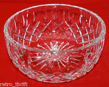 Royal Brierley Gainsborough Large Heavy Signed Cut Crystal Bowl AS-IS Scratches