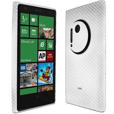 Skinomi Carbon Fiber Silver Skin+Clear Screen Protector for Nokia Lumia 1020