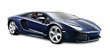 LAMBORGHINI AVENTADOR LP700-4 1/24 DIECAST MODEL CAR BLUE BY MAISTO 34210