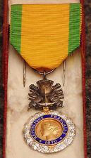 ancienne Médailles militaire III eme république 1870 très bon état valeur discip