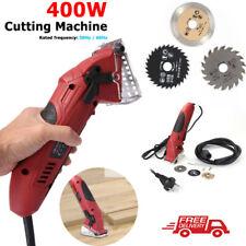 400W Portable Electric Saw Multi-function Circular Saw Cutting Tool w/3 Blades