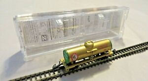 Micro-Trains Z Tank Wagon Gold Mtl 1999 Holiday Cheer Gold IN Evp