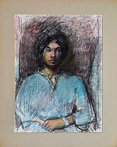 "Michael Steiner ""Woman Series #5"", Orig Pastel & Charcoal, 23.5""h x 17""w image"