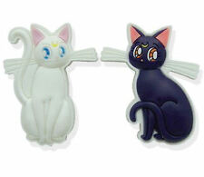 Sailor Moon Anime Luna & Artemis the Cat PVC Pin Set of 2 Licensed Product