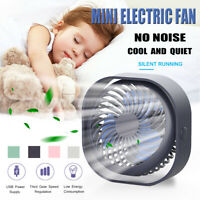 ❤️ 2000MAH USB Portable Electric Desk Table Fan Small Quiet Personal Cooler Fan