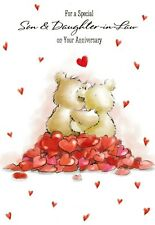 son and daughter-in-law cute wedding anniversary card - 4 cards to choose from!