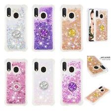 For Samsung A20E A30S A10 A20 A40 A70 Shockproof Bling Liquid Glitter Case Cover