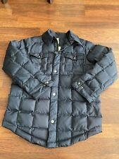 Lands End Kids Down Jacket Coat Youth Boys Size Medium 10-12 Navy Blue