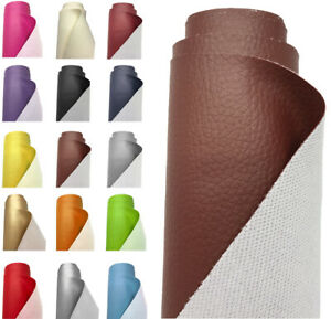 GRAIN FAUX LEATHER LEATHERETTE FABRIC HEAVY DUTY MATERIAL CLOTHING UPHOLSTERY