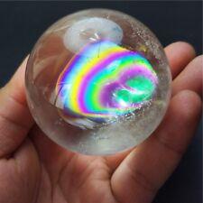 6.1mm Natural Clear Rainbow Quartz Crystal Gemstone Sphere ball