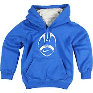 NIKE LITTLE KIDS FOOTBALL SPORT HOODIE TREASURE BLUE SZ 4