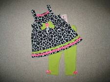 """NEW """"LIME GIRAFFE"""" Capri Pants Girls Clothes 12m Spring Summer Boutique Baby"""