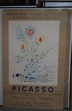 """Picasso Original Poster """"BONNE FETE""""  Mourlot 1961 UCLA"""