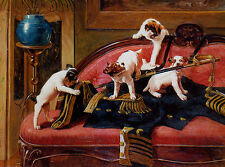 JACK RUSSELL TERRIER CHARMING DOG GREETINGS NOTE CARD GROUP OF FOUR NAUGHTY PUPS